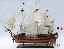 La Fayette Hermione Handcrafted Natural Wood Finished Model Ship
