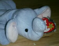 Ty Beanie Baby PEANUT Light Blue Elephant 1995 Collectible PE Pellets Tag