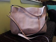 COACH ISABELLE PEBBLE LEATHER SHOULDER BAG PEACH ROSE PINK CROSS BODY PURSE