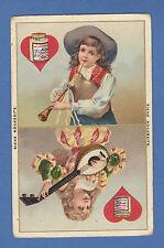 LIEBIG  -  RARE  SINGLE  CARD  -  S 294  /  F 302  -  PLAYING  CARDS  III - 1887