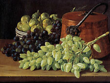 Still Life with grapes, figs, and a copper Kettle Melendez cobre olla B a3 02841