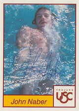1991 College Classics card #11 signed by swimmer ~ John Naber