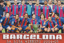 FC BARCELONA FOOTBALL TEAM PHOTO 2004-05 SEASON