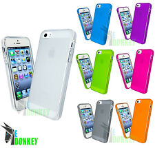 CUSTODIA CASE COVER EDONKEY PER APPLE IPHONE 5 5S TPU TRASPARENTE + PELLICOLA