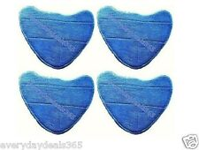 4 x Microfibre Compatible Steam Mop Pads for Holme HDSM4001 Steam Mop