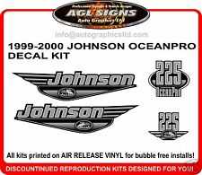JOHNSON OCEANPRO 225 DECAL KIT 1999 - 2000 REPRODUCTION 150 200 250 HP
