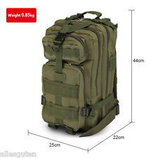 30L Outdoor Tactical Military Backpack Trekking Rucksack Camping Bag Army Green