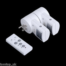 Mini 2-Pack 120V~230V US-Plug Wireless Remote Control Power Outlet Socket Switch