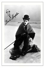 CHARLIE CHAPLIN - THE GOLD RUSH SIGNED PHOTO PRINT POSTER AUTOGRAPH