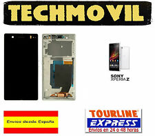 PANTALLA DISPLAY LCD +MARCO COMPLETO SONY XPERIA Z BLANCO C6602 C6603 C6616 L36H