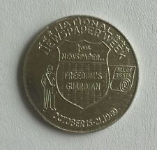 Vintage 1960 Token / Medal / Coin NATIONAL NEWSPAPER WEEK Press Freedom Exonumia