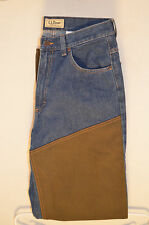 L.L.BEAN Mens-HUNTING FIELD JEANS with BRUSH GUARDS-STANDARD FIT-Size30 X 33 NWT