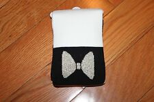 NWT Gymboree City Kitty Size 7-8 Cream Black Gold Bow Colorblock Medium Tights