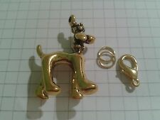 """GARLAND GOLD PLATED """"DOG""""  CHARM  ON LOBSTER CLASP FOR HANDBAG  ETC"""