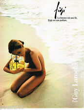 PUBLICITE ADVERTISING 065  1984  GUY LAROCHE  parfum femme FIDJI