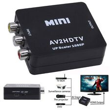 HDTV DVD SKY PS2 CCTV DVR 1080P AV CVBS RCA to HDMI Video Composite Converter LN