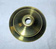 "(1) 1"" Spun Brass Vase Cap - Unfinished"