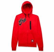 Nike Air Mens Bonded Full Zip Hoodie 689371 657 Red/Black Large NWT $90.00