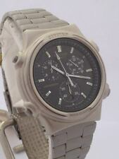 CITIZEN OROLOGIO 3560 Quartz Watch Chronograph stainless steel date NOS CT657 FR