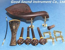 1set  Carving fine high quality  rose wood violin fittings 4/4, violin Parts