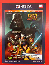 DARTH VADER ZEB EZRA SABINE HERA - STAR WARS REBELS SEASON 2 -Polish promo FLYER