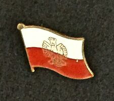 Poland Polish Flag With Eagle, Motorcycle Hat Cap Lapel Pin, new