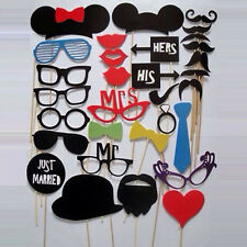 31PCS Photo Booth Props Mustache On A Stick Wedding Birthday Party