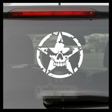 Army Military Star skull JEEP Off-road 4 x 4 decal Car Vinyl sticker
