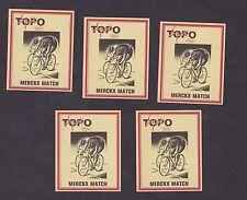 Ensemble étiquettes Allumettes de paquet Belgique BN14237 Vélo coureurs cycliste