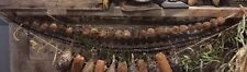 "Primitive Dried Walnut Garland Fall Harvest Decor 36""  Early Look"
