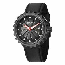 Stuhrling Original Men's 726 02 Cyclone Automatic Black Rubber Watch
