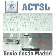 Teclado Español para TOSHIBA SATELLITE L800 L805 L830 L835 L840 White