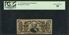 Fr1329 50¢ 3Rd Issue Fractional Currency Pcgs 58 Choice About New Cv $700 Hw1736