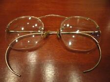 S/C 1/10 12K GF Frame Eye Glasses Spectacles Shur On Ear Wrap Arms Vintage
