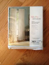 "Martha Stewart JCP Cool White Rod-Pocket Panel Back Tabs 50""W X 72""L NWT $90"
