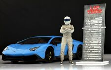 The white dirty STIG (2) Figure für 1:18 Kyosho Audi Top Gear VERY RARE !