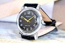 USSR Vintage Black Kirovskie Poljot Flight Russian Soviet Men's Watch strap 1950