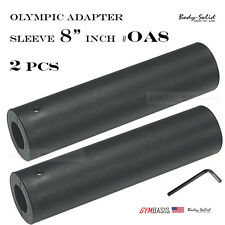 2-pack NEW Body-Solid Olympic Plate Adapter Sleeve 8 Inch OA8 & Hex Lock