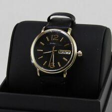 NEW AUTHENTIC MARC BY MARC JACOBS FERGUS GOLD BLACK LADIES WOMEN'S MBM1388 WATCH