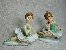 Bomboniera per battesimo e 1° Comunione, ballerina seduta in resina decorata