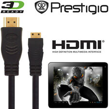 Prestigio Multipad 7, 8, 9.7 Android Tablet PC HDMI Mini to HDMI TV 2.5m Cable