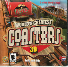 WORLD'S GREATEST COASTERS 3D ( PC GAME ) NEW SEALED J/C