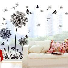 DIY PVC Décoration De Maison Pissenlit Papillon Vinyle Autocollant Mural Art