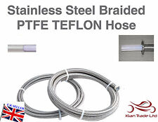 AN -6 (6AN JIC -6 MSA Rally) 8MM Teflon PTFE Stainless Braided Fuel Hose 6  HOSE