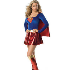 Sexy Women Superhero Outfit Halloween Supergirl Superwoman Fancy Dress Costume