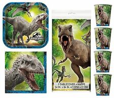 JURASSIC WORLD Birthday PARTY PACK for 8 - Plates Cups Napkins Tablecover Kids