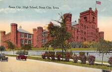 Sioux City Iowa view of Sioux City High School antique pc Y11197