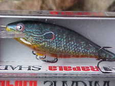 "Rapala 2 3/4"" Balsa Shad Rap SR07 PSL Color LIVE PUMPKINSEED for Bass/Walleye"