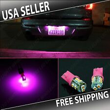 1 Pair Pink LED License Plate Light Bulbs BULB 10SMD T10 194 168 W5W WEDGE