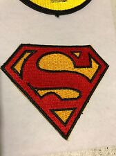 "Superman Logo Embroidered iron/sew on Patch 2.5"" x 3"" NEW Free Shipping"
